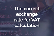 How to determine the correct exchange rate for VAT calculation